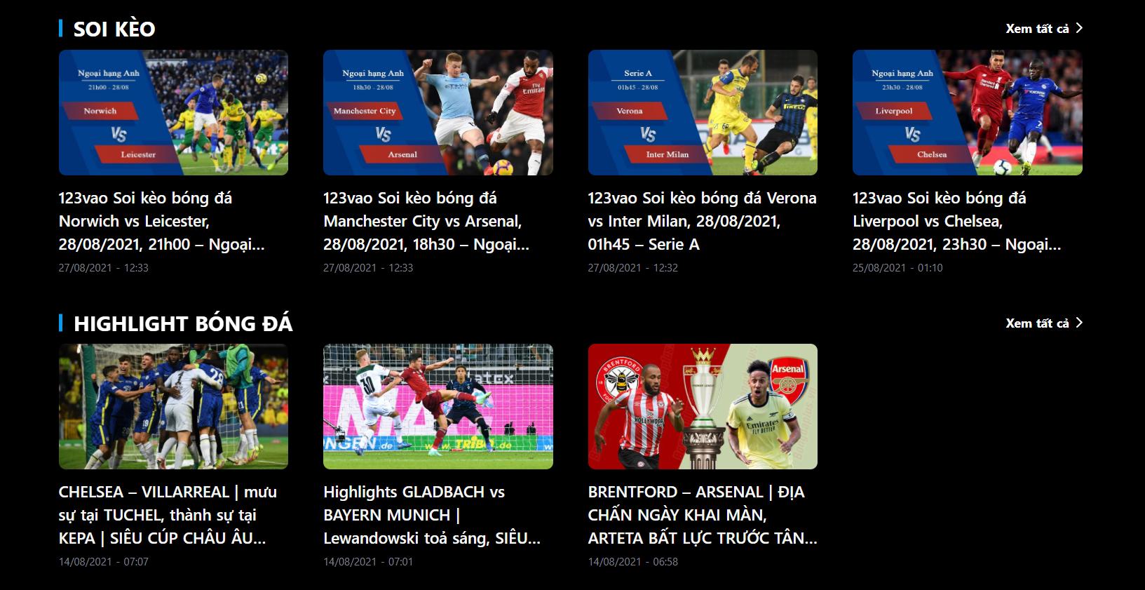 website xem bóng đá 123vao